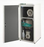 Bezeļļas kompresors ar atsūcēju un trokšņu izolācijas skapi DUO/ DUO 2